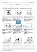 Passende Verben und Adjektive zu Bildern suchen: Übung und Lösung Preview 2