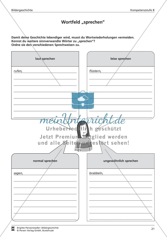 """Wortfeld """"sprechen"""": Übung und Lösung Preview 1"""