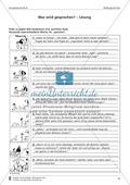 Wörtliche Rede zu Bildern schreiben: Übung und Lösung Preview 2