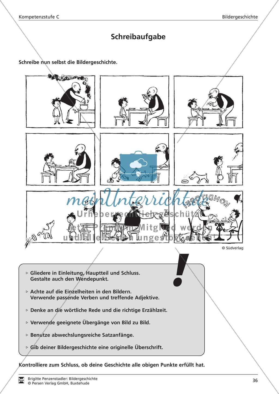 Bildergeschichte schreiben und Schreibkonferenz halten: Bilder, Aufgaben, Arbeitsbogen (hohes Niveau) Preview 1
