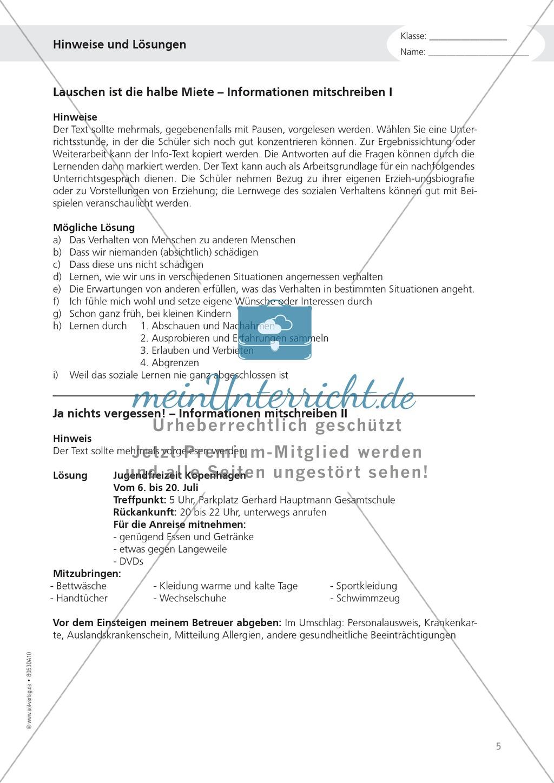 """Alltagskompetenzen: """"Notizen schreiben"""" - Infotext + Aufgaben + Lösungen Preview 5"""