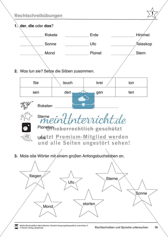 """JÜL - Drei Differenzierungsstufen: """"Auf zu den Sternen"""" - Einführung + Arbeitsblätter + Aufgaben + Lernkontrolle Preview 15"""
