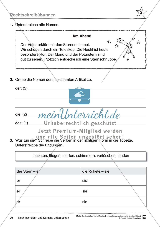 """JÜL - Drei Differenzierungsstufen: """"Auf zu den Sternen"""" - Einführung + Arbeitsblätter + Aufgaben + Lernkontrolle Preview 16"""