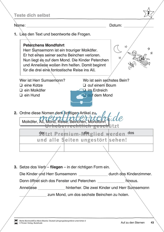 """JÜL - Drei Differenzierungsstufen: """"Auf zu den Sternen"""" - Einführung + Arbeitsblätter + Aufgaben + Lernkontrolle Preview 39"""