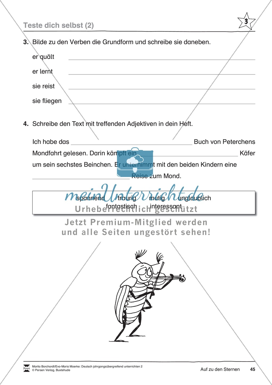 """JÜL - Drei Differenzierungsstufen: """"Auf zu den Sternen"""" - Einführung + Arbeitsblätter + Aufgaben + Lernkontrolle Preview 41"""