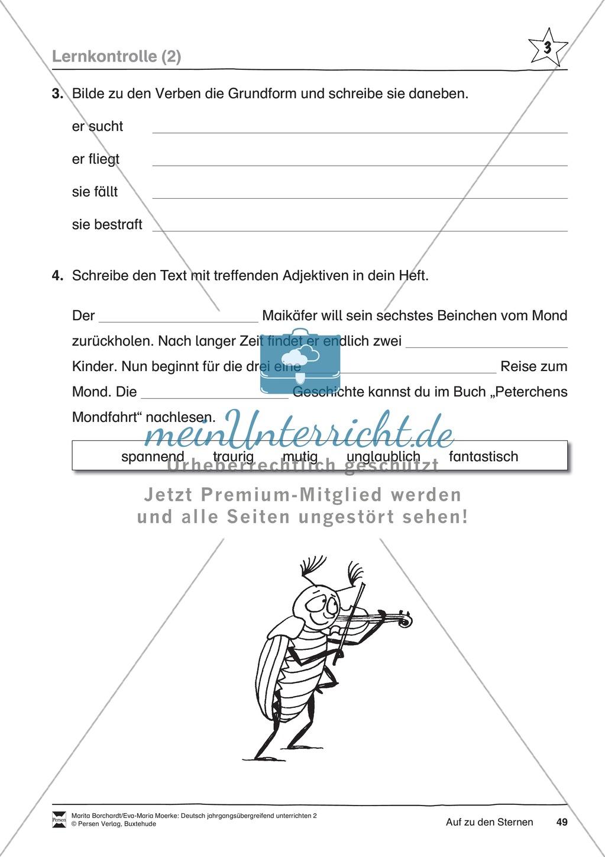 """JÜL - Drei Differenzierungsstufen: """"Auf zu den Sternen"""" - Einführung + Arbeitsblätter + Aufgaben + Lernkontrolle Preview 45"""
