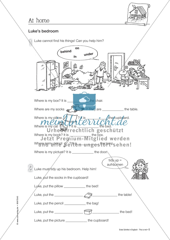 Erste Schritte in Englisch - At home: Übungen und Lösung Preview 4