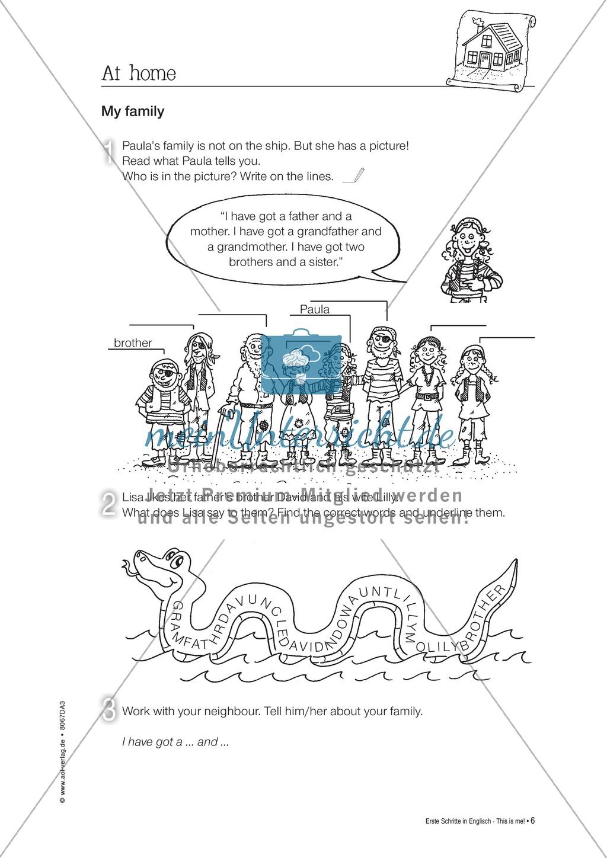 Erste Schritte in Englisch - At home: Übungen und Lösung Preview 5