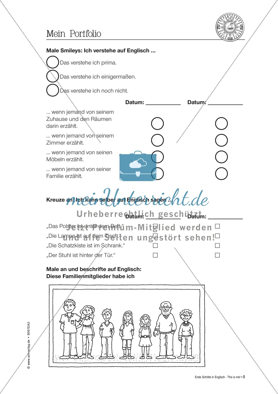 Erste Schritte in Englisch - At home: Übungen und Lösung Preview 7