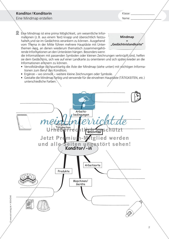 Deutsch-Aufgaben aus dem Alltag - Arbeiten in der Konditorei: Übungen und Lösung Preview 1