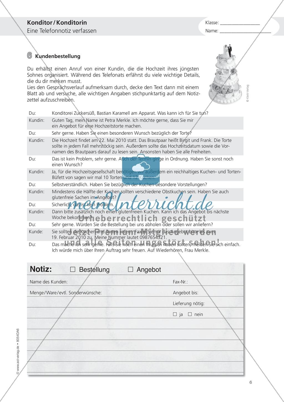 Deutsch-Aufgaben aus dem Alltag - Arbeiten in der Konditorei: Übungen und Lösung Preview 5