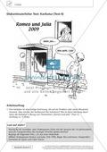 Textarbeit Eheschließung und Liebe: Karikatur, Text, Arbeitsblätter und Lösungen Preview 1