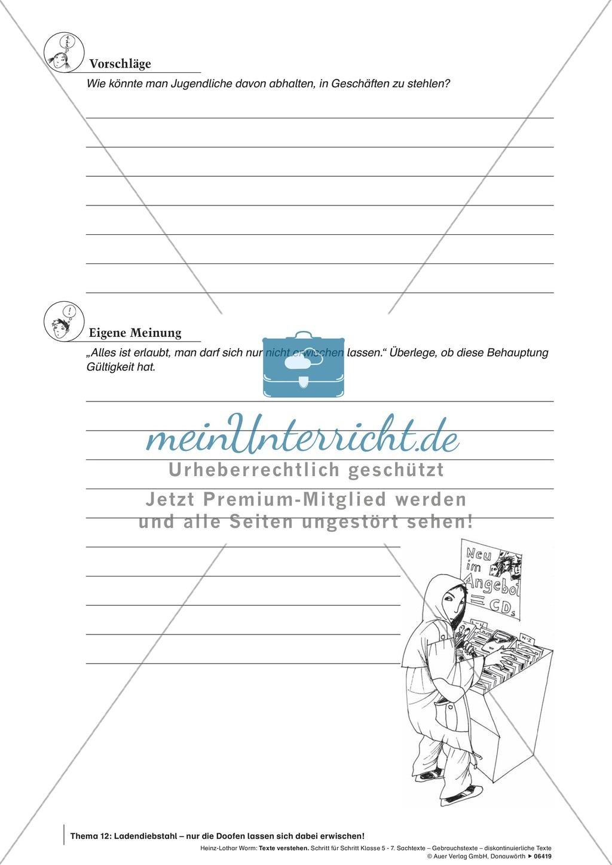 Textverständnis Training: Text, Arbeitsblätter und Lösungsblatt Preview 4