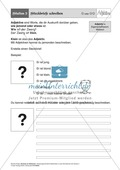 Stationentraining Adjektive: Arbeitsblätter Preview 5