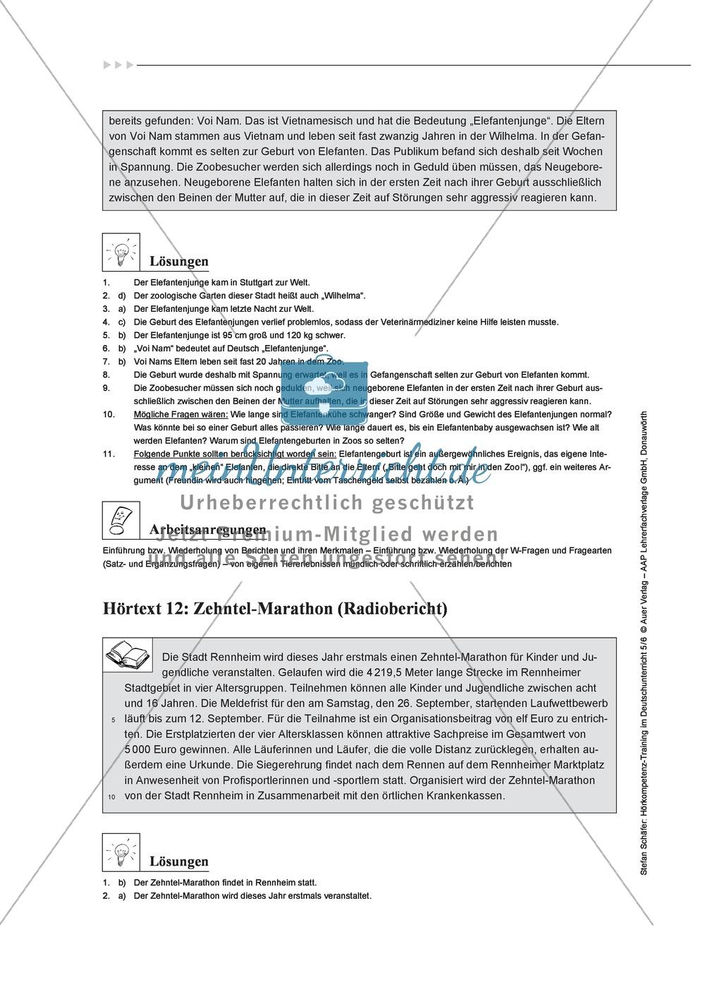 Hörkompetenz schulen: Hörtexte, Aufgaben und Lösungen Preview 9