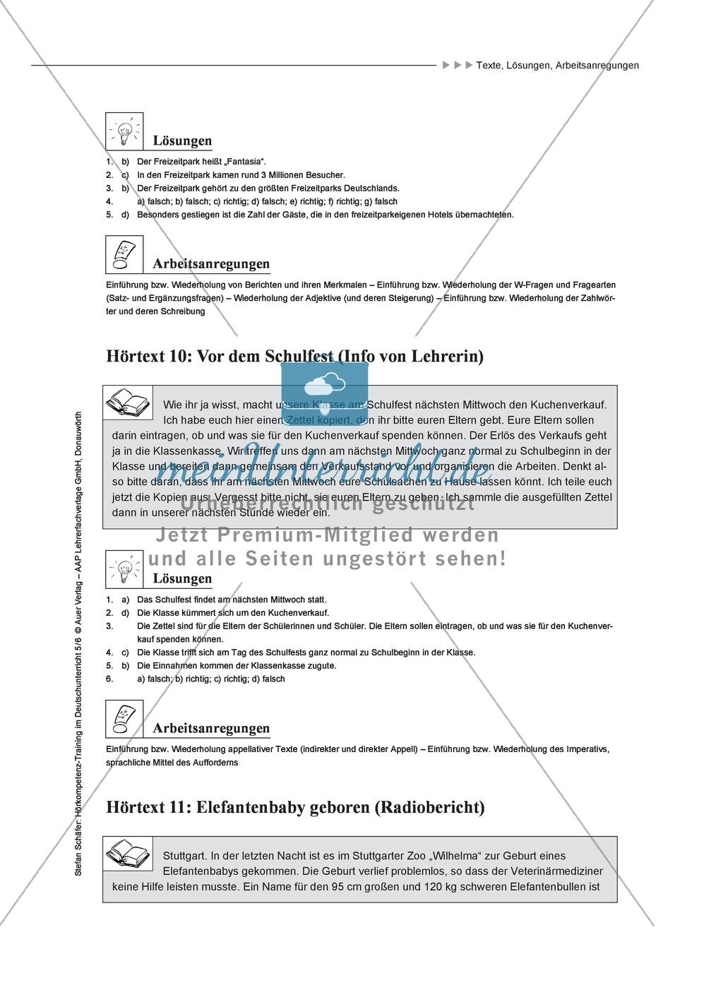 Hörkompetenz schulen: Hörtexte, Aufgaben und Lösungen Preview 8