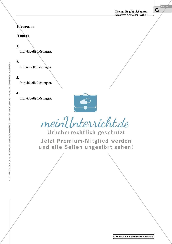 Kreatives Schreiben: Material zur individuellen Förderung: Aufgaben und Lösungsvorschläge Preview 12