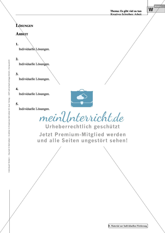 Kreatives Schreiben: Material zur individuellen Förderung: Aufgaben und Lösungsvorschläge Preview 14