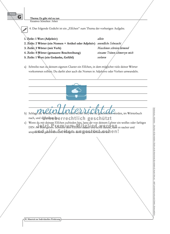 Kreatives Schreiben: Material zur individuellen Förderung: Aufgaben und Lösungsvorschläge Preview 3