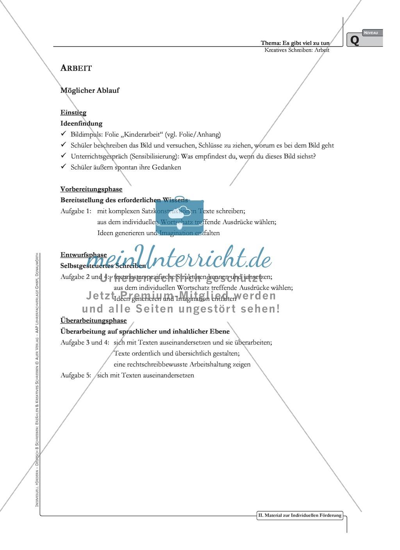 Kreatives Schreiben: Material zur individuellen Förderung: Aufgaben und Lösungsvorschläge Preview 4