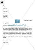Briefe schreiben: Klassenarbeit und Lösung Preview 2