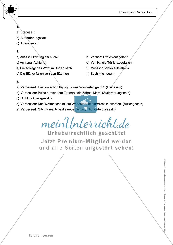 Zeichensetzung: Kommasetzung: Grundregeln, Arbeitsblätter und Lösungen Preview 3