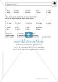 Wortarten: Verben: Regeln,  Arbeitsblätter und Lösungen Preview 7