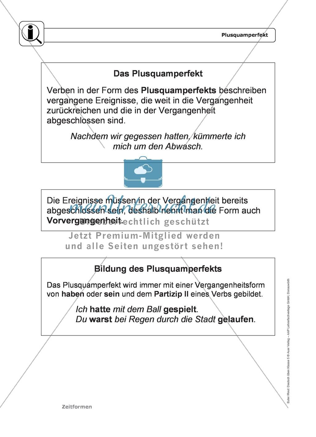 Zeitformen: Präsens: Regeln, Arbeitsblätter und Lösungen ...