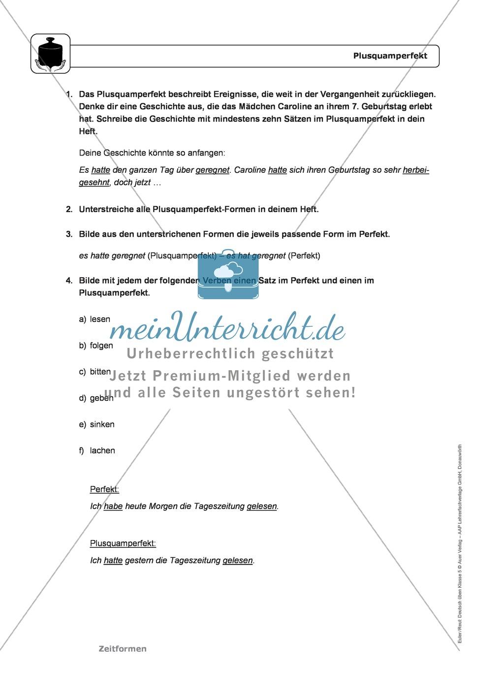 Zeitformen: Präsens: Regeln, Arbeitsblätter und Lösungen Preview 3