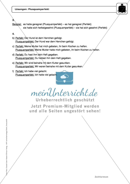 Zeitformen: Präsens: Regeln, Arbeitsblätter und Lösungen Preview 5
