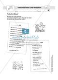 Gedichte Rätsel: Arbeitsbögen und Lösung Preview 1