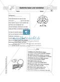 Gedichte Rätsel: Arbeitsbögen und Lösung Preview 2