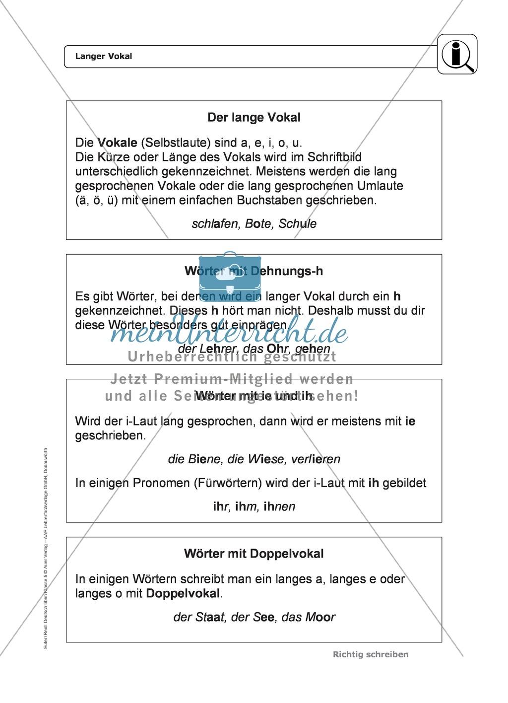 Tolle Lange Vokal Arbeitsblatt Ideen - Mathe Arbeitsblatt - urederra ...