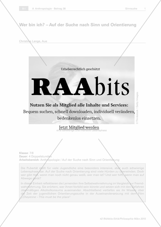 Wer bin ich? - Auf der Suche nach Sinn und Orientierung – RAAbits ...