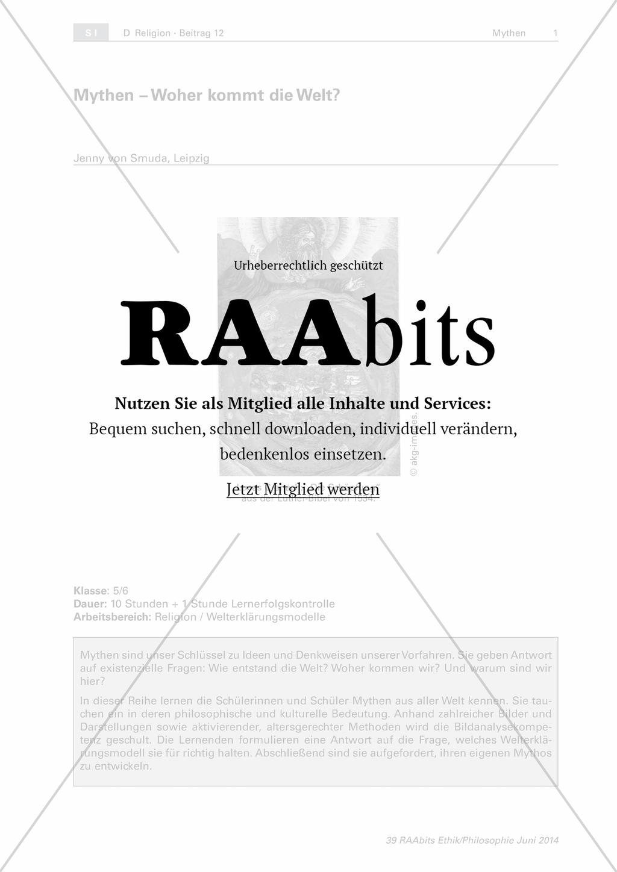 Mythen - Woher kommt die Welt? – RAAbits Ethik online