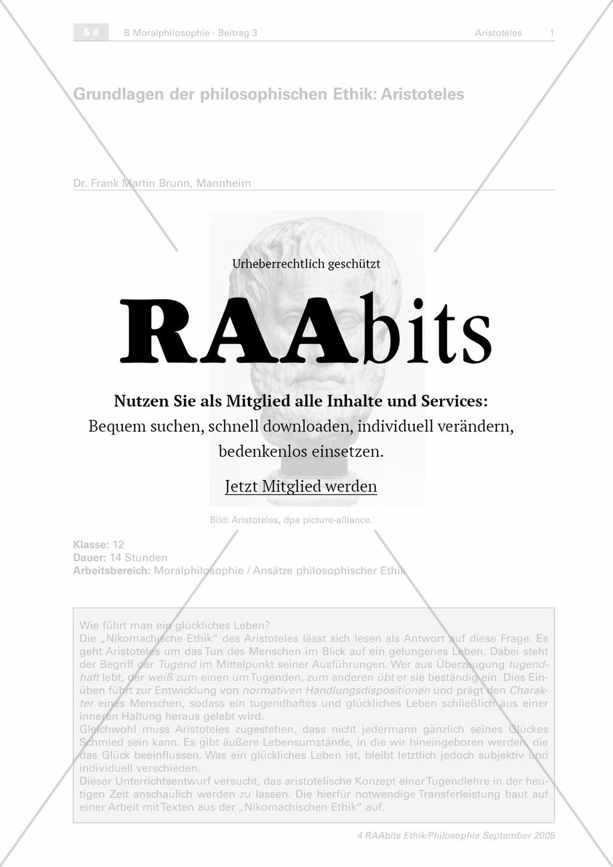 Grundlagen der philosophischen Ethik: Aristoteles – RAAbits Ethik online