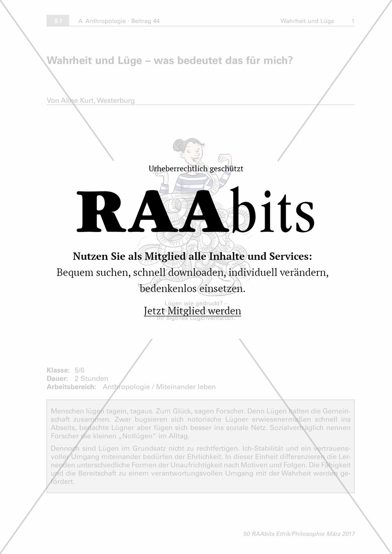 Wahrheit und Lüge - was bedeutet das für mich? – RAAbits Ethik online