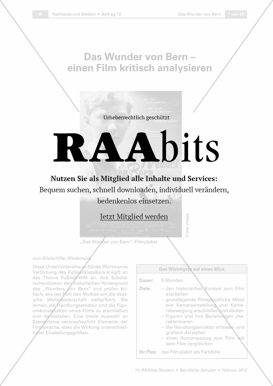 Das Wunder von Bern - einen Film kritisch analysieren – RAAbits ...