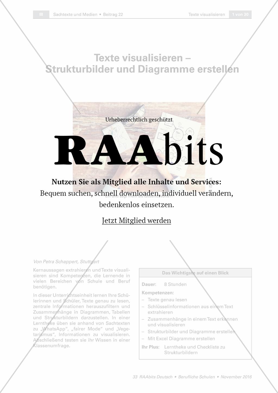 Texte visualisieren - Strukturbilder und Diagramme erstellen ...