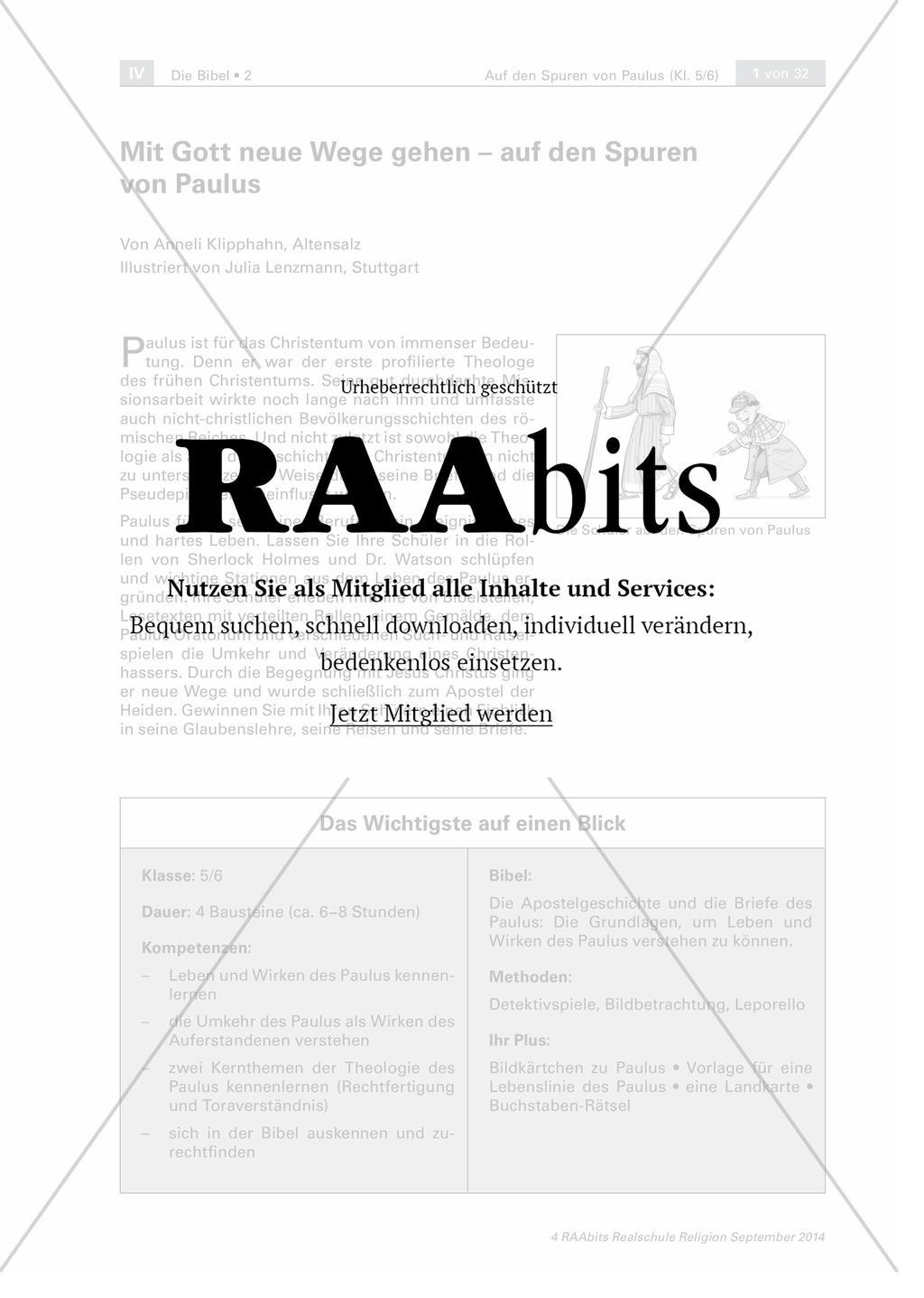 Mit Gott neue Wege gehen – auf den Spuren von Paulus – RAAbits Religion