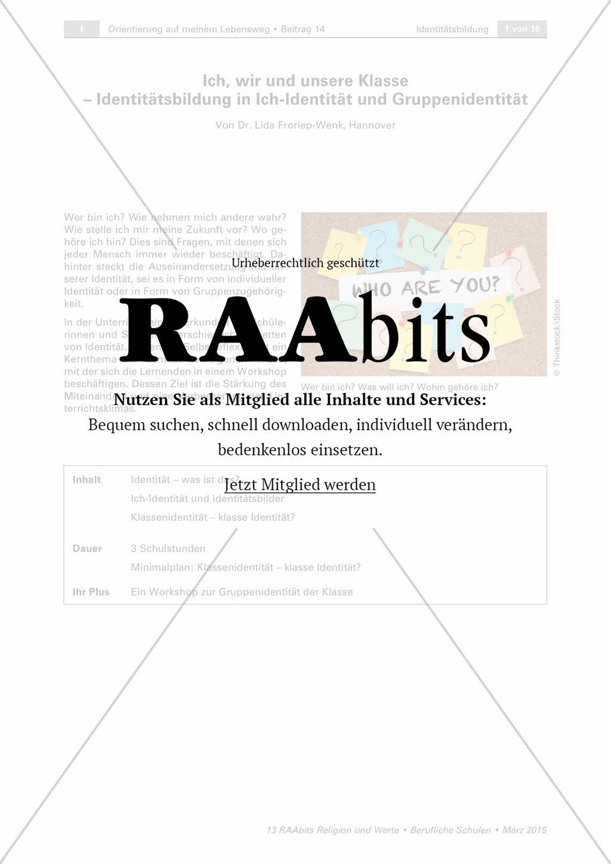 Ausgezeichnet Persönliche Identität Arbeitsblatt Galerie - Mathe ...