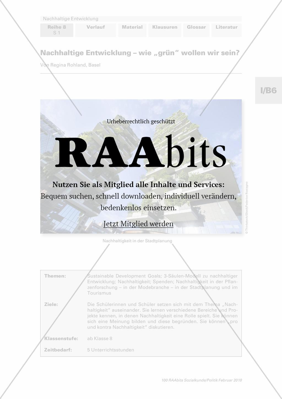 """Nachhaltige Entwicklung – wie """"grün"""" wollen wir sein? – RAAbits ..."""