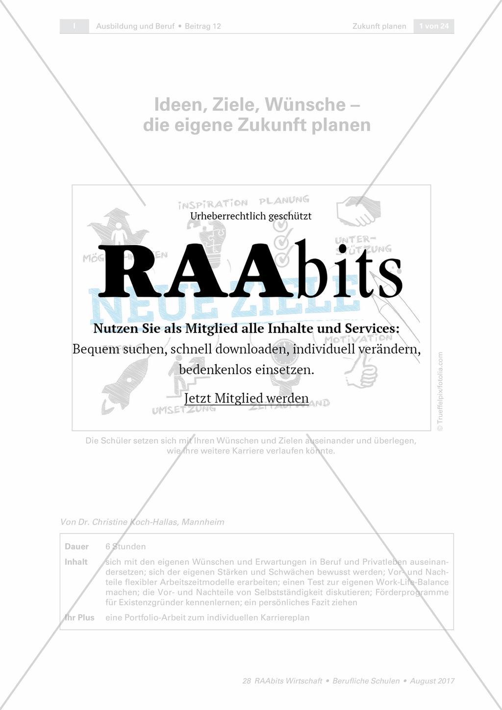 Ideen Ziele Wünsche Die Eigene Zukunft Planen Raabits Politik