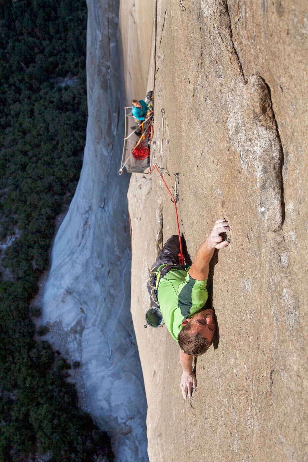 Tommy Caldwell, Dawn Wall (P8) 5.15 Photo: Benjamin Ditto