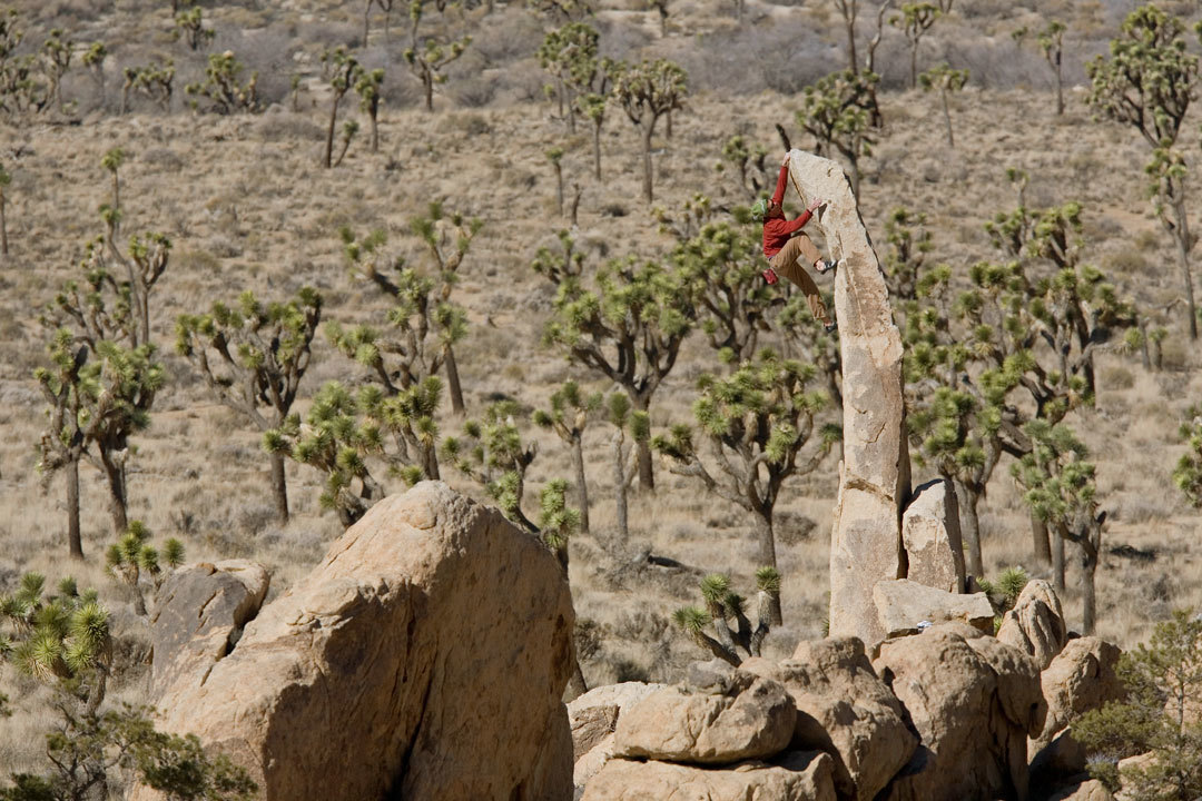 Heath Lillie, Aiguille de Joshua Tree 5.6X Photo: Andrew Burr