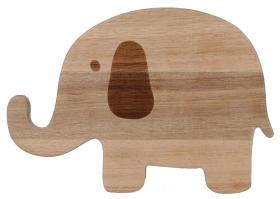 KIDS Holzbrettchen Elefant 24x16,7x