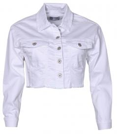 8154-Girls Color Denim Jacket
