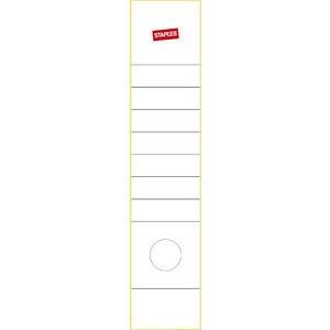 Rückenschild, selbstklebend, Papier, breit / lang, 62x289mm, weiß