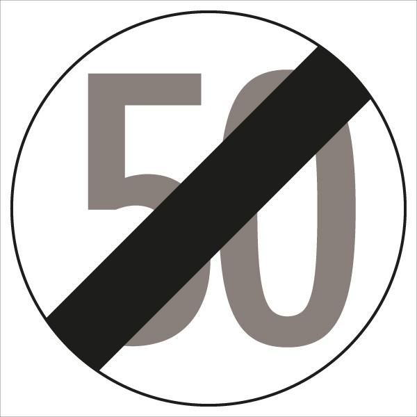 §52/10b Ende der Geschwindigkeitsbegrenzung 50 km/h