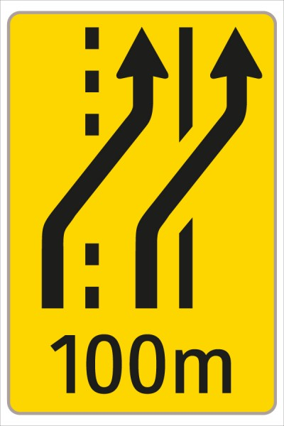 Fahrstreifenanzeiger gelb - schwarz
